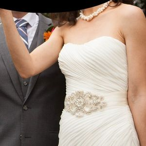 Accessories - Embellished Wedding Bridal Satin Belt